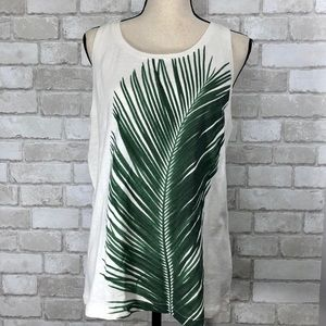 Palm Frond J Crew Collectors Tee Sleeveless